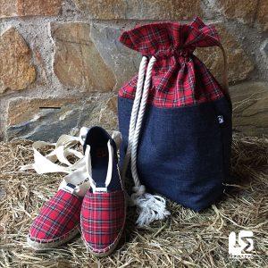 Alpargatas Escocesas y bolso de moda Inasona